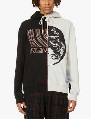 McQ Genesis graphic-print cotton-jersey hoody
