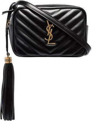 Saint Laurent Lou monogram-embellished leather belt bag