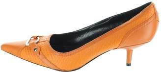 Karen Millen Orange Leather Heels