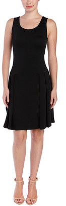 Pink Tartan Dropped Waist Dress