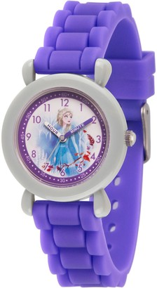 EWatchFactory Disney Frozen 2 Girls' Elsa Purple Silicone Watch