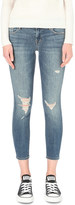 J Brand Distressed skinny low-rise jeans