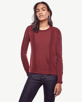 Ann Taylor Scalloped Wool Blend Sweater