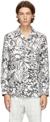 Fendi White Joshua Vides Edition Silk Shirt
