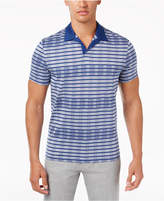 Alfani Men's Striped Open-Collar Polo, Created for Macy's