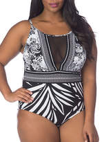 La Blanca Sevilla Scarf One-Piece Swimsuit