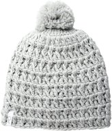 Coal Women's the Waffle Hand-Crocheted Waffle-Knit Beanie with Pom
