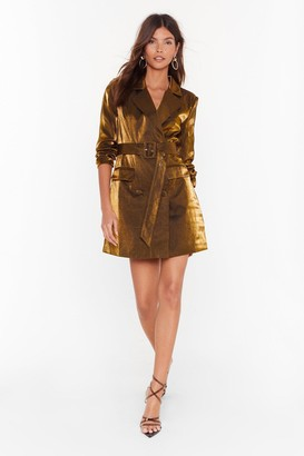 Nasty Gal Womens And the Shimmer is Mini Blazer Dress - Metallics - 6
