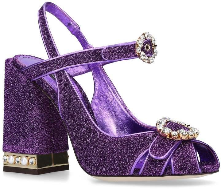 Dolce & Gabbana Bette Strass Slingback Sandals