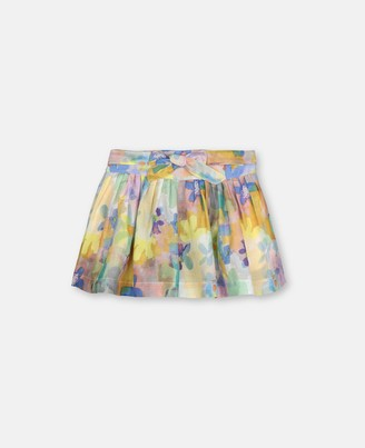 Stella McCartney painted flowers cotton-silk shorts