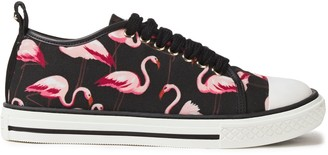 Red(V) Printed Canvas Sneakers