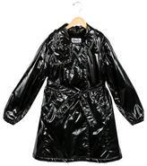 Dolce & Gabbana Girls' Sheen Double-Breasted Coat