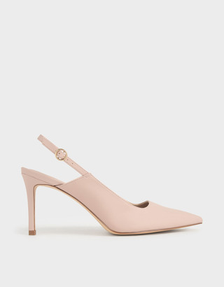 Charles & Keith Pointed Toe Slingback Pumps