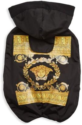 Versace Barocco Logo Waterproof Hooded Dog Jacket