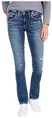 Silver Jeans Co. Suki Mid-Rise Curvy Fit Straight Leg Jeans L93413SDK335 (Indigo) Women's Jeans