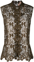 No.21 lace detail shirt - women - Polyester - 42