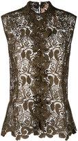 No.21 lace detail shirt - women - Polyester - 44