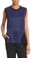 DKNY Women's Sleeveless Rib Trim Shirt