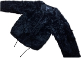 Isabel Marant Black Fur Biker jacket