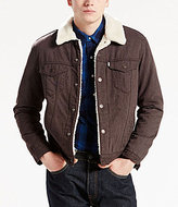 Levi's Faux Sherpa Lined Flannel Trucker Jacket