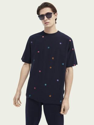 Scotch & Soda Embroidered organic cotton t-shirt | Men