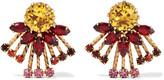 Elizabeth Cole Tara 24-karat gold-plated Swarovski crystal earrings