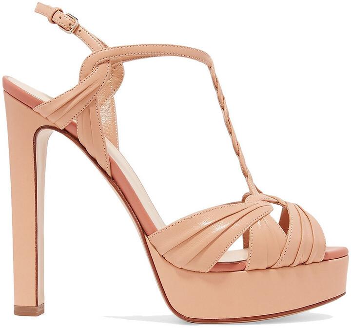 Francesco Russo Braided Leather Platform Sandals