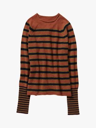 Toast Mira Striped Wool Blend Jumper, Squash/Multi