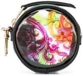 Versace transparent baroque-print purse