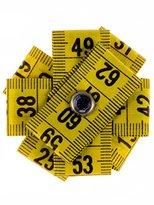"Schmuckzeug Brooch ""Measuring Tape Flower"" yellow"
