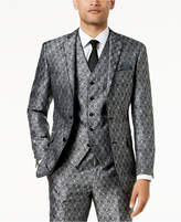 Tallia Orange Men's Modern-Fit Black Medallion Suit Jacket