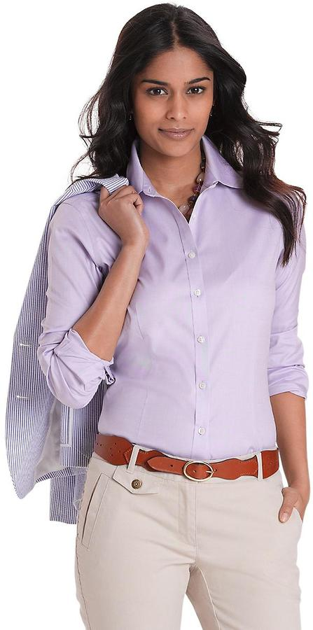 Brooks Brothers Non-Iron Fitted Solid Dress Shirt with XLA