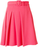 Moschino buckle waist pleated skirt - women - Polyester/Triacetate/Viscose - 40