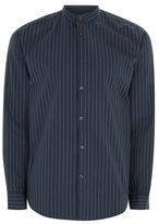 Selected Navy Button Up Shirt