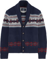 Hackett Woollen jacquard knit cardigan