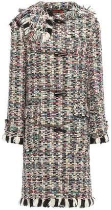 Missoni Fringe-trimmed Wool-blend Tweed Coat