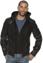 Apt. 9 Men's Modern-Fit Faux-Leather Hooded Jacket
