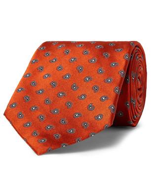 Anderson & Sheppard 8cm Paisley-Jacquard Silk-Twill Tie