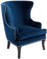 Brownstone Upholstery Thomas Wingback Chair - Navy Velvet