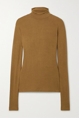 Totême Arenzano Stretch-knit Turtleneck Sweater - Tan