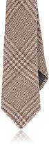 Brunello Cucinelli Men's Plaid Flannel Necktie-TAN