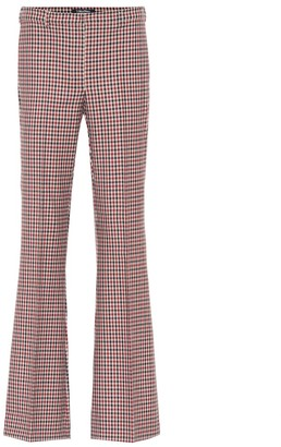 Soraia checked mid-rise flared pants