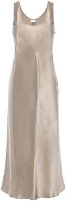 Max Mara Satin Flared Midi Dress