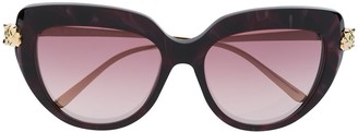 Cartier Panthere de cat-eye frame sunglasses