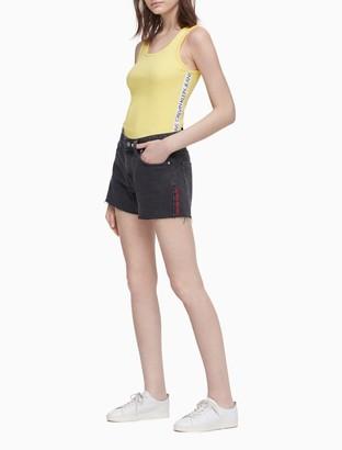 "Calvin Klein Mid-Rise Black 4"" Weekend Shorts"