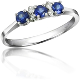 Tagliamonte Incanto Royale Sapphires and Diamond 18K Gold Ring