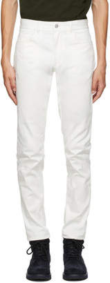 Moncler White Logo Pocket Jeans