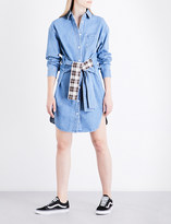 Sjyp Tie-waist denim shirt dress