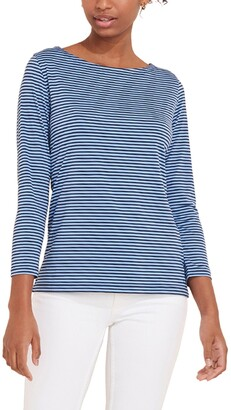 Vineyard Vines Sankaty Stripe Boat Neck Top