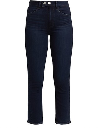 Paige Claudine Double-Snap Waistband Ankle Flare Jeans